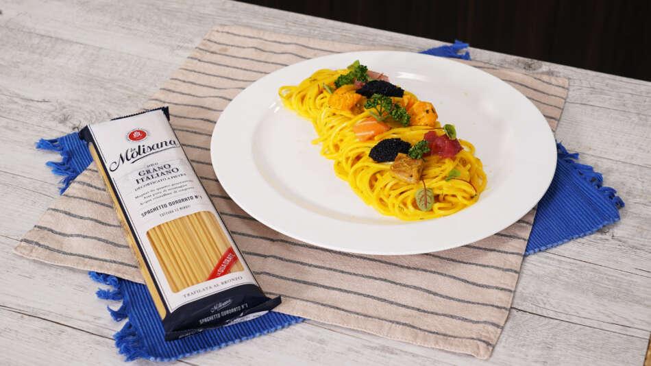 La Molisana: lo spaghetto quadrato per la Carbonara di mare