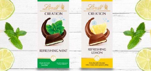Lindt Creation Refreshing Mint & Lemon, 2 new entry per l'estate